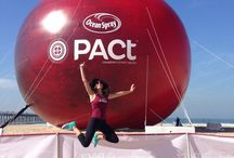 Inflatable Cranberry / 61-foot tall Inflatable Cranberry for PACT. Ocean Spray