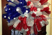 Beautiful XLarge Patriotic Outdoor DecoMesh by DistinctlySouthern,