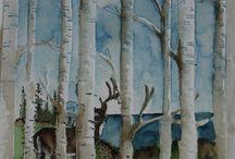 Woodland embossing folder Stampin Up / Stampin up woodland embossing folder inspiration