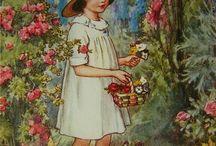 vintage little girl