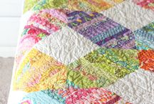 String Quilt / Quilts made with scrappy strings