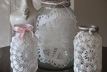 doily and hankie love....... / things I love made with doilies and hankies....................