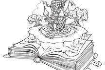 Coloriages de châteaux et chevaliers / Les trois mousquetaires, des soldats en armure de fer, des châteaux... retrouvez le monde des chevaliers d'autrefois en coloriant les dessins dans ce tableau.
