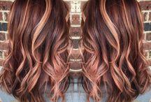 golden caramel hair
