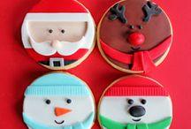 Biscoitos  e Cupcakes de Natal