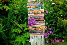 Free weaving wall hangings
