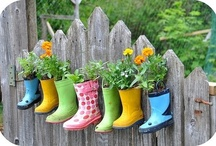Recycled items for garden