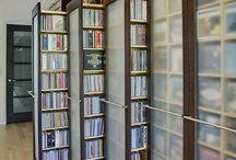 Library, shelves, storage