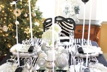 Black and white themed party