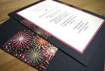 Wedding Fireworks Invitations / Firework themed invitations