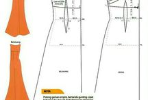 Šití - domácí tvorba / Home-made sewing / Šití šatů doma, podle koupených (případně i vlastními silami vytvořených) střihů. / Making of clothing at home based on purchased (eventually  created on one´s own) patterns.