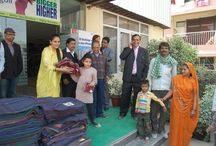 New Year Celebrations by Manglam /  On the occasion of New Year 2016, Manglam Charitable Trust distributed blankets & winterwear to labour and their families working at Rangoli Greens site. Manglam Group's Chairman Mr. N.K.Gupta and Directors Mr. Sanjay Gupta, Ajay Gupta, Mr. Mani Shankar Goyal, Mr R.S. Gupta & Mrs. Amrita Gupta and staff were present on this juncture.