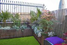 TERRAZAS EN BARCELONA / Terrazas parquizadas en Barcelona y jardineras
