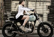 VINTAGE FLAT TRACK MOTO JERSEY / The TRI handmade Jeffrey Carver moto jersey on girls:  can't get better (hotter) than that... Special thanks to our friends Urban Mechanics for the beatiful custom kawasaki w650. Get it here: http://www.therealintellectuals.com/collections/mens/products/vintage-flat-track-moto-jersey