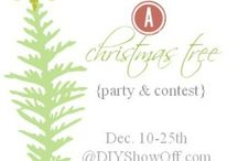 """Christmas Tree Inspiration / Christmas Tree Link Party. Visit http://diyshowoff.com/2013/12/10/christmas-tree-link-party-contest/ to vote for your favorite with a """"like, to browse the trees for inspiration and to add your own tree to the collection."""