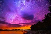 milky way and northern lights / Photos d'aurores boréales et de la voie lactée