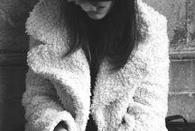 White fluffy coat