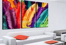 Pintura hojas de colores