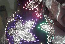 El yapimi doğal lambalar
