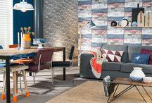 vtwonen Stijl Studio: Something Blue / vtwonen Stijl Studio 'Something Blue' wordt gekenmerkt door eerlijke vormen, waarbij hout een belangrijke rol speelt. De mix in dessins, materialen en stijlen is tijdloos en persoonlijk. De retro-elementen en een funky oranje touch maken het geheel spannend en een tikkeltje eigenwijs! / by Eijerkamp - Wooninspiratie, tips & trends