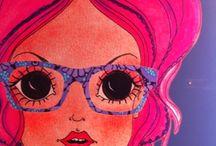 """SUNGLASSES PATTY PAILETTE / """"I miei occhiali vengono indossati da un pubblico vasto. Si vendono a signore bellissime di 70 anni perchè donano allo sguardo freschezza e vivacità ma anche alle più giovani che amano l'originalità, l'equilibrio, il buon gusto e la qualità"""" Cit. Patty Pailette http://www.occhialifacili.com/brand/patty-paillette/"""