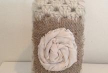Crochet basket and jars