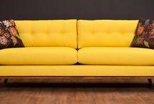 Gule sofaer