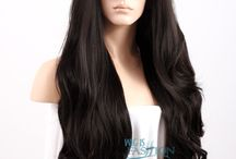 WIF Black Wigs / WIF Black Lace Front Wigs Collection! http://www.wigisfashion.com/collections/black-lace-front-wigs