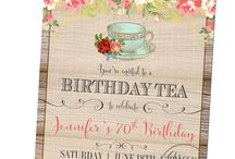 Let's have a tea party / Ideas for moms 65th birthday