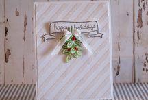 Christmas cards and things / Homemade Christmas stuff