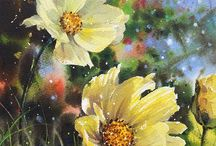 Aqu fleurs jaunes