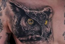 Owl & Tattoo / Ideas for Julie's Tattoo / by Kit Kellison