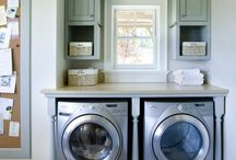 Beautiful Laundry Rooms / Laundry room inspiration, possibly not-quite attainable in this life, but one can hope.