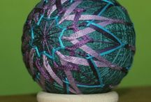 My temari baals art / Temari baal, balls, earrings, necklace, japan, japanese art, embroidery yarn, embroidery, ball