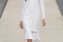 the many angles of white... / I chose the color white as one of the trends for 2014. White is fresh, crisp and showcases many different cuts, shapes and lines (such as wide leg pants or pleated skirts) that are important for the upcoming seasons.