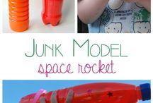 Rakety a planety - vesmír / Nápady na aktivity a výrobky o vesmíru a raketách