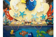 Finding Dory & Finding Nemo Party Ideas / Party ideas for Finding Dory & Finding Nemo birthday parties -- with cakes, decorations, themed party foods and favors. See more party ideas at CatchMyParty.com.