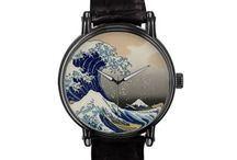 Hokusai Watches / Watches featuring reproductions of Katsushika Hokusai's famous artwork. To see more go to www.VanGoghCustom.com / by Roz Abellera Art