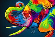 canvas kleurvol-eb