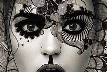 Facial art work