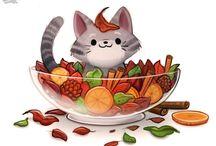 cool food animals