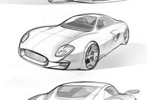Free Hand Automotive Sketch