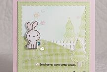 PPP: Scallop Squares Inspiration / A board filled with inspiration using the Pretty Pink Posh die set: Scallop Squares.