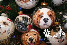 Custom Pet Portrait Ornaments / Custom Pet Portrait Ornaments by founding artist of Wagging Tail Portraits.com, Sherry Kendall. They are the perfect keepsake for that pet lover on your list.