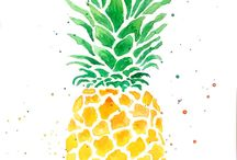 pineapple dibujo