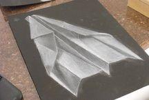 mustan paperin piirros