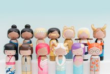 #PANDORAxSKETCHINC / We have joined forces with SketchInc one of our favourite female artists. These zodiac Kokeshi dolls represent all the wonderful women across the globe and honour the stars in your life. #PANDORAxSKETCHINC