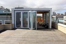 Solarium precedents and ideas / Precedent images for a proposed solarium and roof deck.
