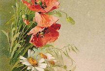 pyrogravür çiçek