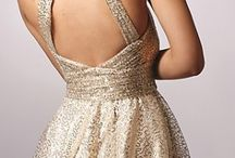 Backless dress / Backless gold dress